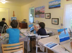 Sausalito Art Gallery Walk and Painting Class Tour at Susan Sternau Studios